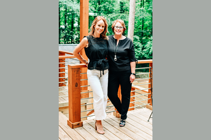 Kory Keibler and Jeanne Westmoreland on porch